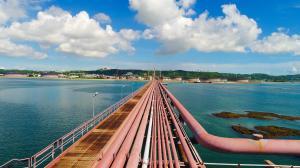 桟橋のパイプライン