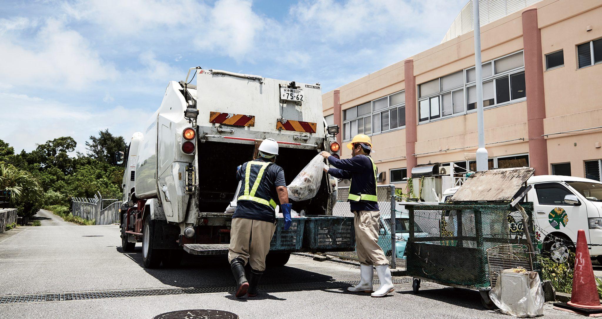 ゴミ回収の様子