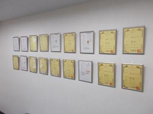 数々の特許は高い技術力の証です。